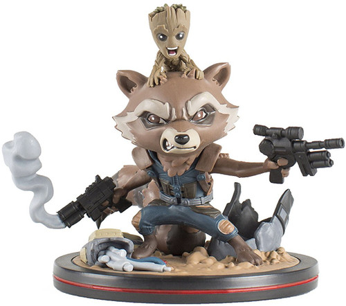 Marvel Guardians of the Galaxy Q-Fig Rocket Raccoon Statue