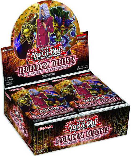 YuGiOh Trading Card Game Legendary Duelists Ancient Millennium Booster Box [36 Packs]