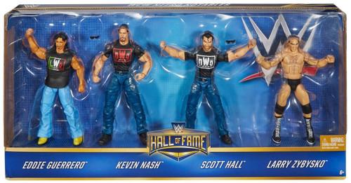 WWE Wrestling Hall of Fame Eddie Guerrero, Kevin Nash, Scott Hall & Larry Zybysko Action Figure 4-Pack [NWO]