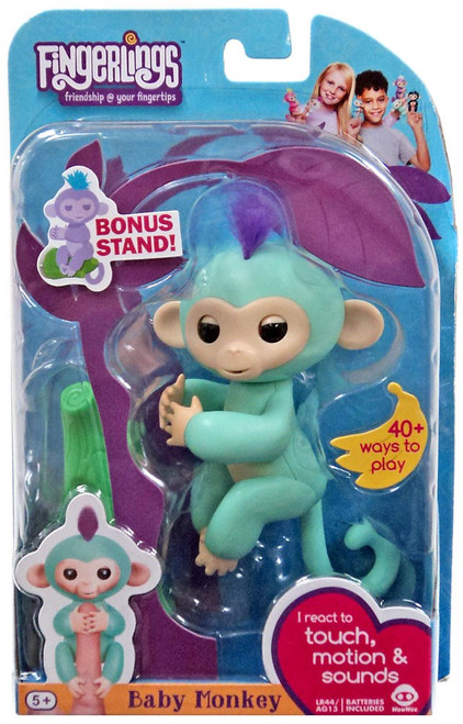 Fingerlings Baby Monkey Zoe Figure [with Bonus Stand]
