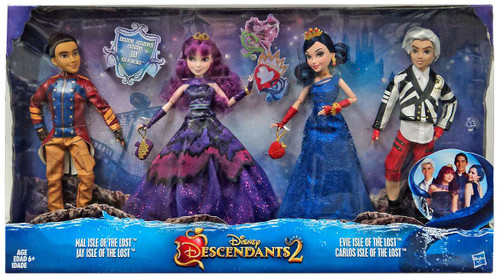 Disney Descendants Descendants 2 Isle of the Lost Mal, Jay, Evie & Carlos Exclusive 11-Inch Doll 4-Pack