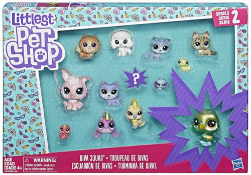 Littlest Pet Shop Series 2 Diva Squad Mini Figure 13-Pack