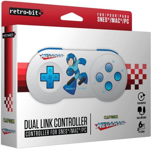 Retro-Bit Dual Link USB For SNES/MAC/PC Video Game Controller [Mega Man]