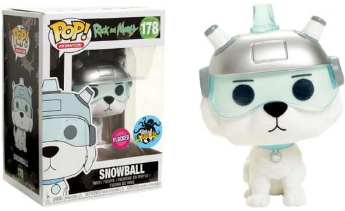 Funko Rick & Morty POP! Animation Snowball Exclusive Vinyl Figure #178 [Flocked]