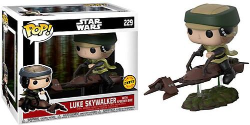 Funko POP! Star Wars Luke Skywalker with Speeder Bike Deluxe Vinyl Figure #229 [Chase Version]
