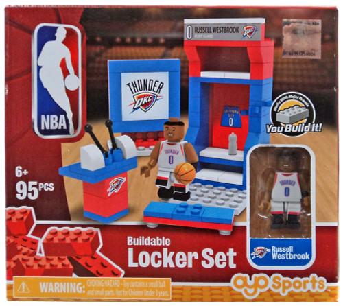 NBA Oklahoma City Thunder Russell Westbrook Buildable Locker Set