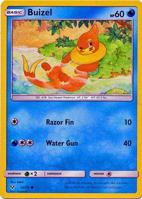 Pokemon Trading Card Game Shining Legends Common Buizel #22