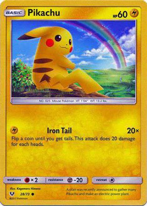 Pokemon Trading Card Game Shining Legends Common Pikachu #28