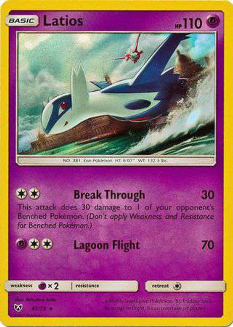 Pokemon Trading Card Game Shining Legends Rare Holo Latios #41