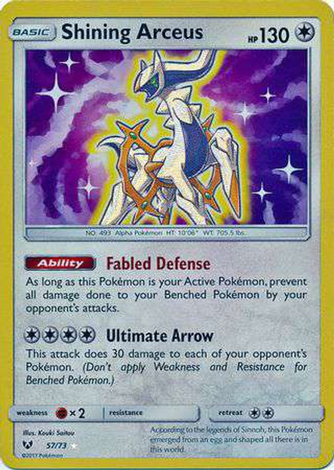 Pokemon Trading Card Game Shining Legends Shining Holo Shining Arceus #57