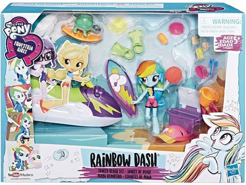 My Little Pony Equestria Girls Minis Rainbow Dash Sporty Beach Playset