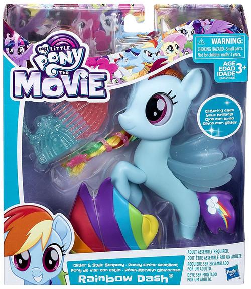 My Little Pony The Movie Rainbow Dash Glitter Seapony 6-Inch Figure
