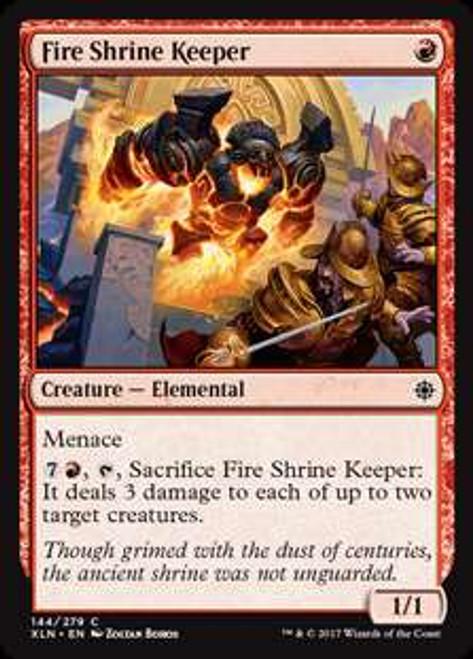 MtG Ixalan Common Foil Fire Shrine Keeper #144