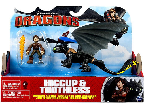 How to Train Your Dragon Dragons Dragon Riders Hiccup & Toothless Action Figure 2-Pack [Yellow Tail]