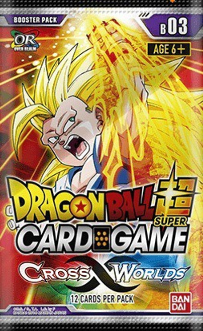Dragon Ball Super Trading Card Game Series 3 Cross Worlds Booster Pack DBS-B03 [12 Cards]