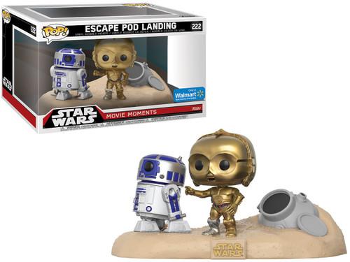 Funko POP! Star Wars Escape Pod Landing (R2D2 & C3-PO) Exclusive Vinyl Figure 2-Pack [Movie Moments]