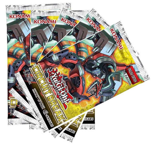 YuGiOh Trading Card Game Circuit Break LOT OF 5 Booster Packs