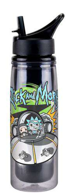 Funko Rick & Morty Spaceship 20 oz Acrylic Water Bottle