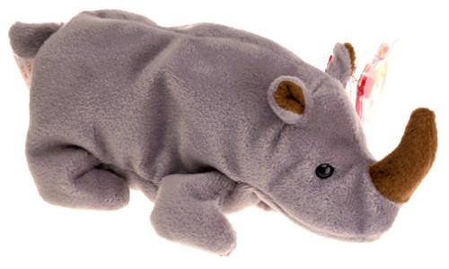 Beanie Babies Spike the Rhino Beanie Baby Plush