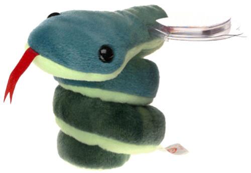 Beanie Babies Hissy the Snake Beanie Baby Plush