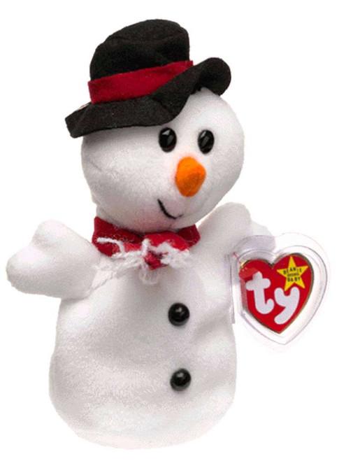 Beanie Babies Snowball the Snowman Beanie Baby Plush