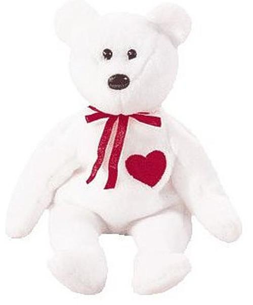 Beanie Babies Valentino the Valentines Bear Beanie Baby Plush