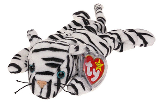 Beanie Babies Blizzard the White Tiger Beanie Baby Plush
