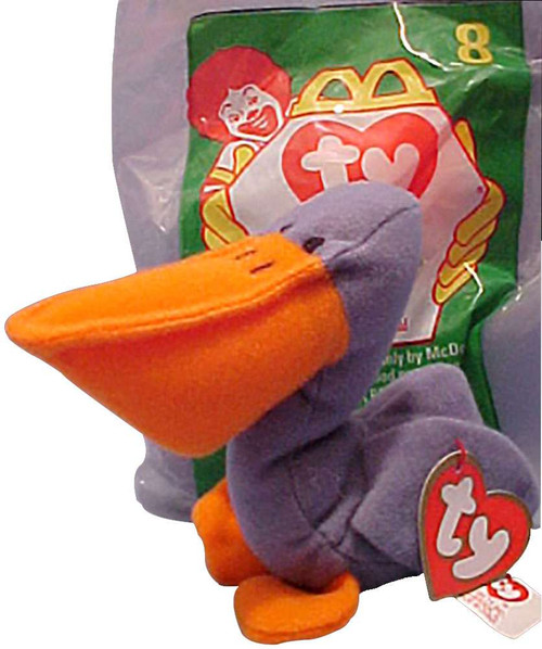 Beanie Babies McDonalds Scoop the Pelican Beanie Baby Plush #8