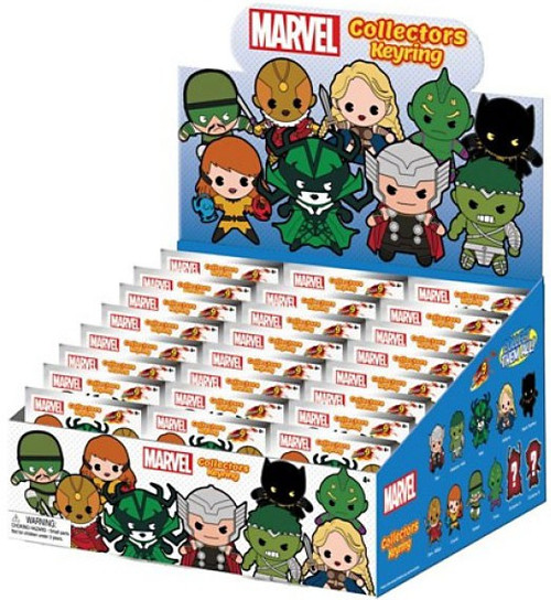 3D Figural Keyring Marvel Series 9 Mystery Box [24 Packs]