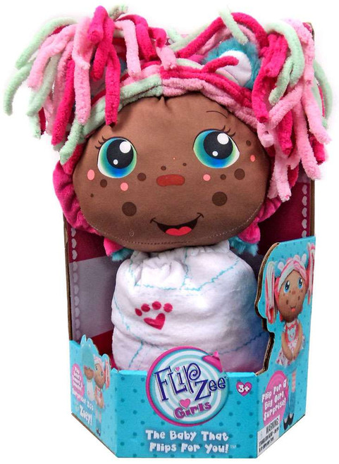 FlipZee! Girls Zoey Snuggly Bear Plush Doll [African American]