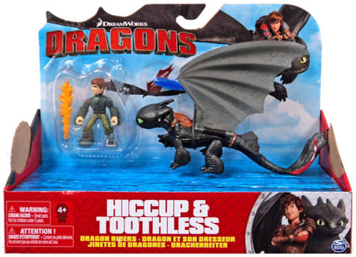 How to Train Your Dragon Dragons Dragon Riders Hiccup & Toothless Action Figure 2-Pack [Red Tail]