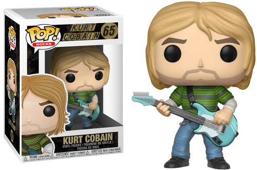 Funko Nirvana POP! Rocks Kurt Cobain Vinyl Figure #65 [Blue Guitar, Teen Spirit]