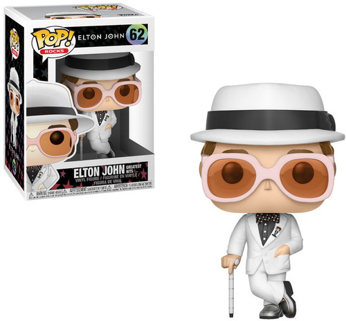 Funko POP! Rocks Elton John Vinyl Figure #62 [White Suit, Greatest Hits]