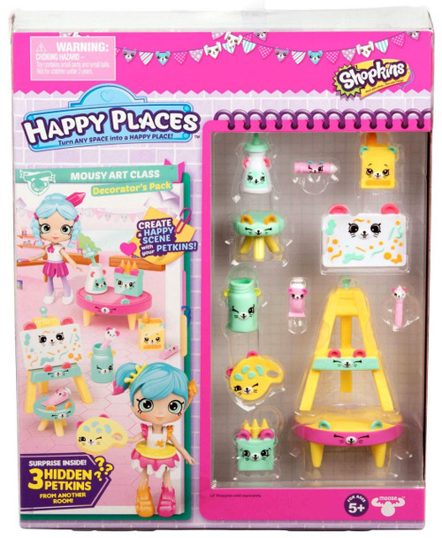 Shopkins Happy Places Series 3 Mousy Art Class Decorator's Pack