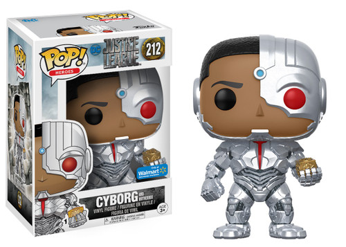 Funko DC Justice League Movie POP! Movies Cyborg & Mother Box Exclusive Vinyl Figure #212