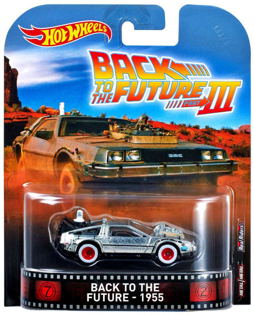 Hot Wheels Back to the Future Part III HW Retro Entertainment DeLorean Time Machine 1955 Diecast Car