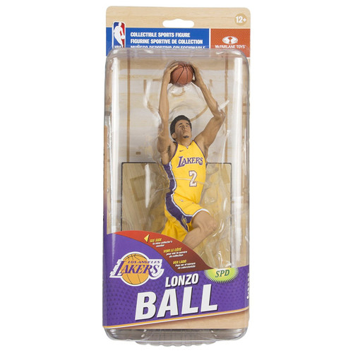 McFarlane Toys NBA Los Angeles Lakers Sports Picks Series 32 Lonzo Ball Action Figure [Yellow Uniform]