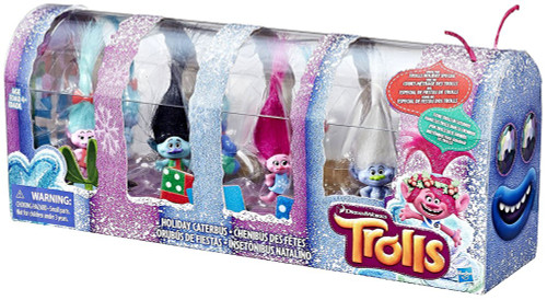 Trolls Holiday Caterbus Mini Figure 8-Pack