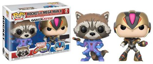 Funko Marvel Gamerverse Marvel vs Capcom: Infinite POP! Games Rocket vs. Mega Man X Exclusive Vinyl Figure 2-Pack [Variant]
