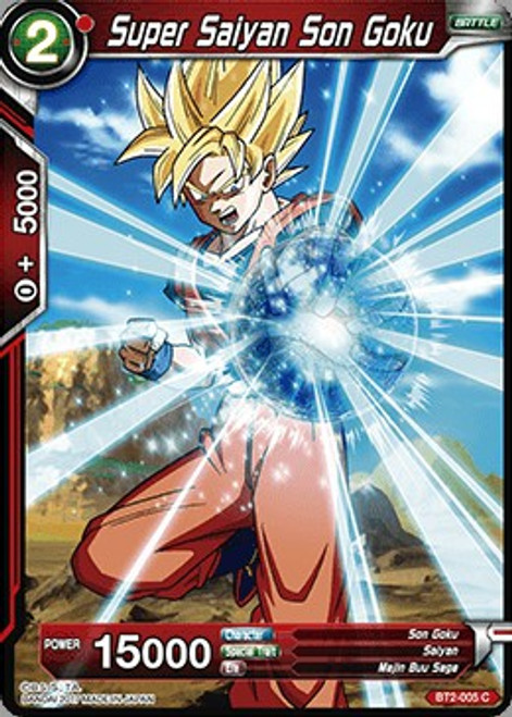 Dragon Ball Super Collectible Card Game Union Force Common Super Saiyan Son Goku BT2-005
