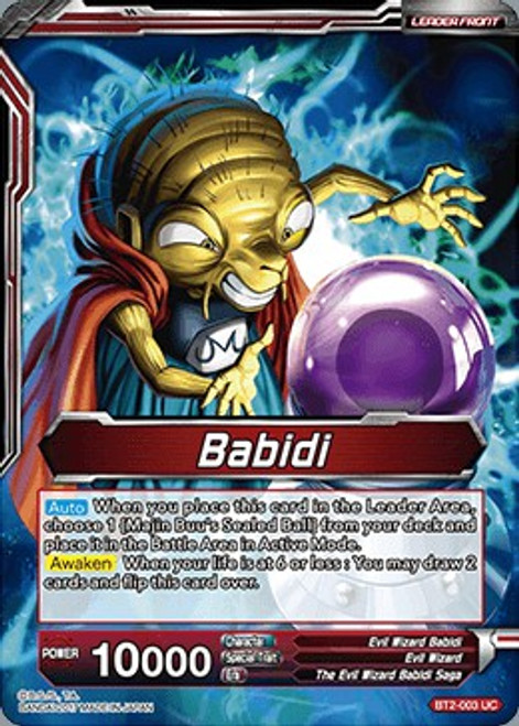 Dragon Ball Super Collectible Card Game Union Force Uncommon Babidi / Babidi, Creator of Evil BT2-003