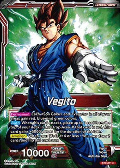 Dragon Ball Super Trading Card Game Union Force Rare Vegito / Fusion Warrior Super Saiyan Vegito BT2-001