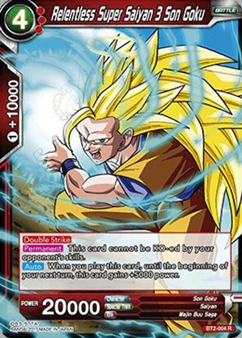 Dragon Ball Super Collectible Card Game Union Force Rare Relentless Super Saiyan 3 Son Goku BT2-004
