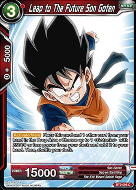 Dragon Ball Super Collectible Card Game Union Force Common Leap to The Future Son Goten BT2-008