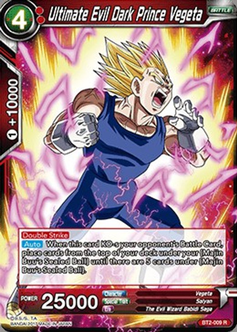 Dragon Ball Super Collectible Card Game Union Force Rare Ultimate Evil Dark Prince Vegeta BT2-009