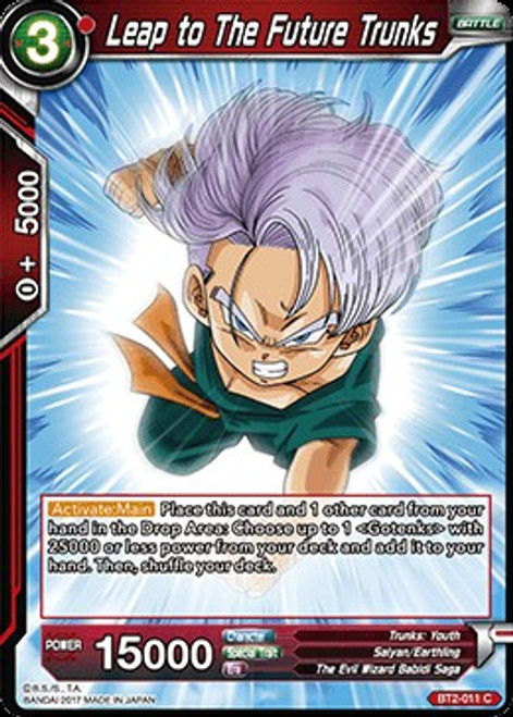 Dragon Ball Super Collectible Card Game Union Force Common Leap to The Future Trunks BT2-011