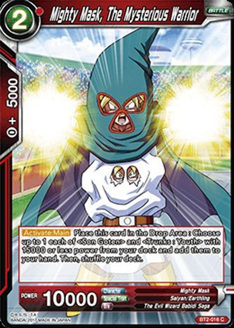 Dragon Ball Super Collectible Card Game Union Force Common Mighty Mask, The Mysterious Warrior BT2-016