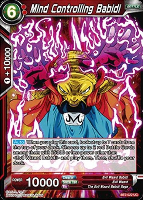 Dragon Ball Super Collectible Card Game Union Force Uncommon Mind Controlling Babidi BT2-022