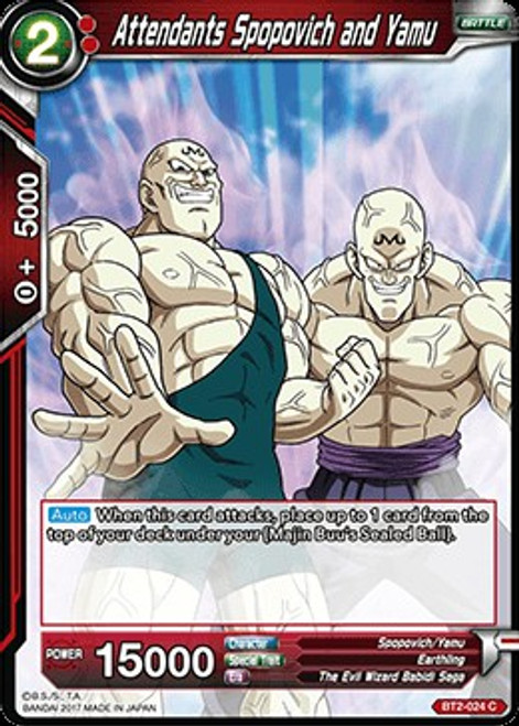 Dragon Ball Super Collectible Card Game Union Force Common Attendants Spopovich and Yamu BT2-024
