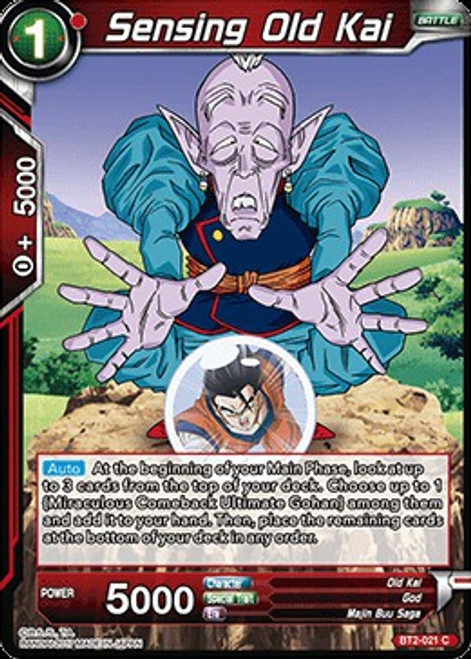 Dragon Ball Super Collectible Card Game Union Force Common Sensing Old Kai BT2-021